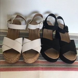 American Eagle wedge sandals size 8.5 x2